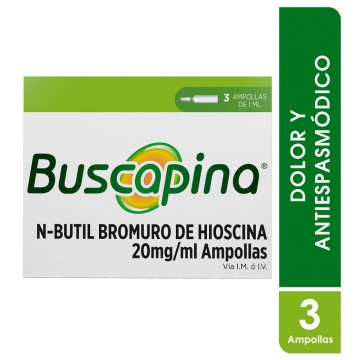 Buscapina 20mg inyectable 1ml