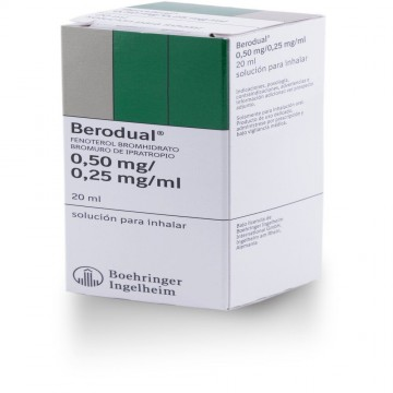 Berodual 0.25mg inhalador 20ml