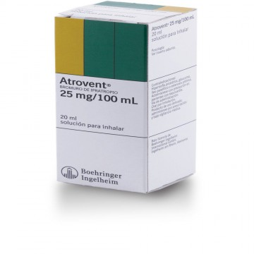 Atrovent 0.025% inhalador 20ml