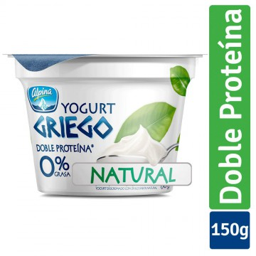 Yogurt griego natural vaso...