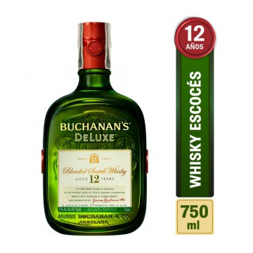 Whisky 12años botella 750ml...